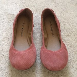 Lucky Brand Leather Flats- size 6.5